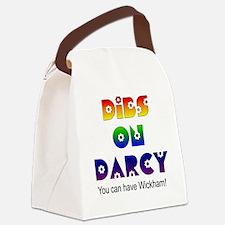 Rainbow Dibs on Darcy Canvas Lunch Bag
