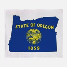 Oregon Flag Throw Blanket