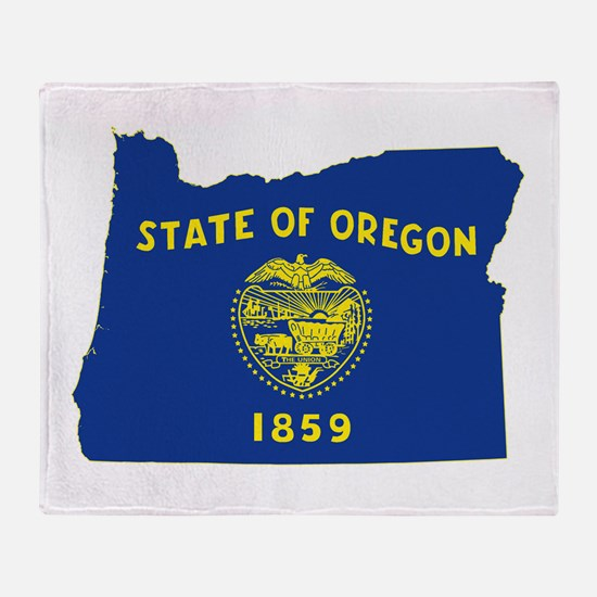 Oregon Flag Throw Blanket