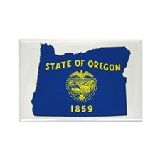 Oregon Flag Rectangle Magnet