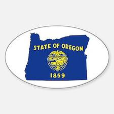 Oregon Flag Sticker (Oval)