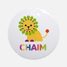 Chaim Loves Lions Ornament (Round)