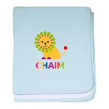 Chaim Loves Lions baby blanket