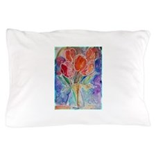 Tulips! Colorful, floral art! Pillow Case