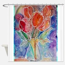 Tulips! Colorful, floral art! Shower Curtain