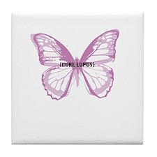 cure lupus Tile Coaster