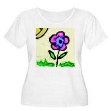 Sunny Day Flower Plus Size T-Shirt