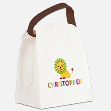 Christopher Loves Lions Canvas Lunch Bag