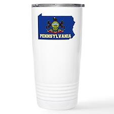 Pennsylvania Flag Travel Coffee Mug