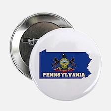"""Pennsylvania Flag 2.25"""" Button"""