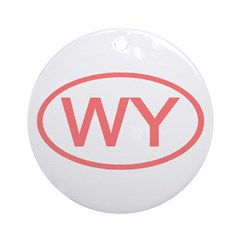 WY Oval - Wyoming Ornament (Round)