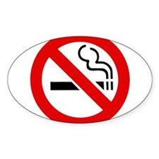 "No Smoking Symbol 3"" Lapel Sticker (48 pk) St"