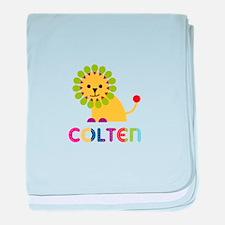 Colten Loves Lions baby blanket