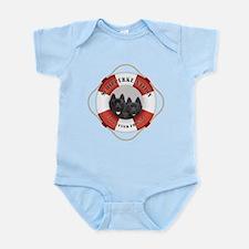 Schipperke Nation life preserver Infant Bodysuit