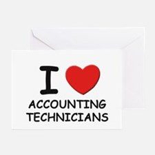 I love accounting technicians Greeting Cards (Pack