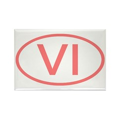 VI Oval - Virgin Islands Rectangle Magnet (10 pack