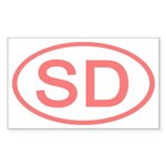 SD Oval - South Dakota Rectangle Sticker
