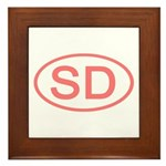 SD Oval - South Dakota Framed Tile