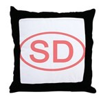SD Oval - South Dakota Throw Pillow
