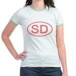 SD Oval - South Dakota Jr. Ringer T-Shirt