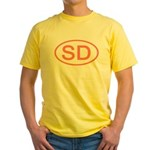 SD Oval - South Dakota Yellow T-Shirt