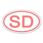SD Oval - South Dakota Oval Sticker