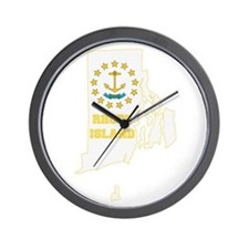 Rhode Island Flag Wall Clock