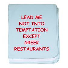 greek baby blanket