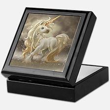 Golden unicorn Keepsake Box