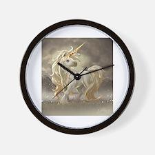 Golden unicorn Wall Clock