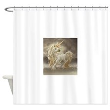Golden unicorn Shower Curtain