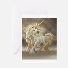 Golden unicorn Greeting Cards (Pk of 20)
