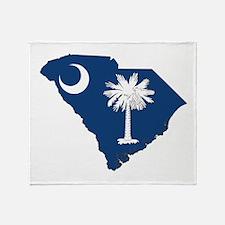 South Carolina Flag Throw Blanket