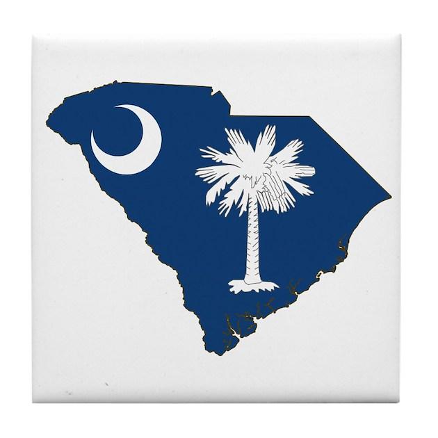 South Carolina Home Decor South Carolina Art Columbia Sc: South Carolina Flag Tile Coaster By StatesOfAmerica