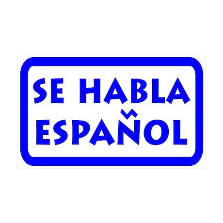 Se Habla Espanol - We Speak Spanish 35x21 Decal