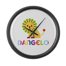 Dangelo Loves Lions Large Wall Clock