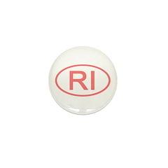 RI Oval - Rhode Island Mini Button (100 pack)