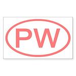 PW Oval - Palau Rectangle Sticker