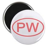 PW Oval - Palau Magnet
