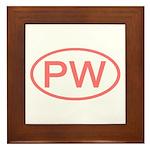 PW Oval - Palau Framed Tile