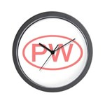 PW Oval - Palau Wall Clock