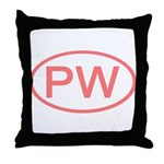 PW Oval - Palau Throw Pillow