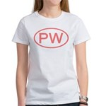 PW Oval - Palau Women's T-Shirt