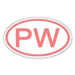 PW Oval - Palau Oval Sticker