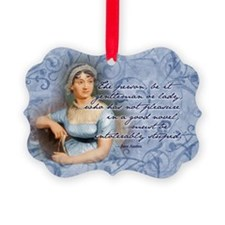 Jane Austen Quote Picture Ornament