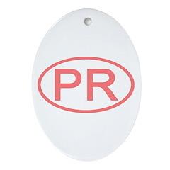 PR Oval - Puerto Rico Oval Ornament