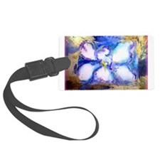 White orchid! floral art! Luggage Tag
