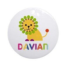 Davian Loves Lions Ornament (Round)