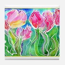 Tulips! Colorful, floral art! Tile Coaster