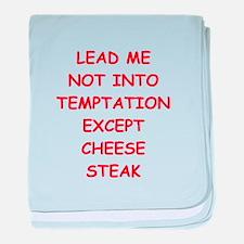 chese steak baby blanket